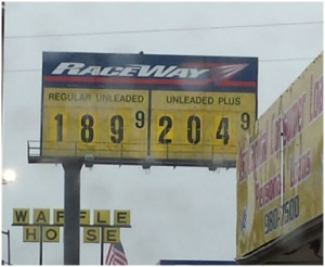 Gas Price in Rock Hill, S.C. on January 3, 2015 (Photo by/ Adeline Bee)