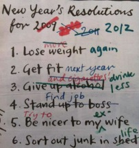 New Year's Resolution List (Photo by/ Sam Iampietro)
