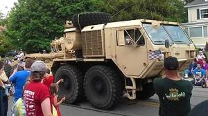 War vehicle at Attleboro's 2014 Memorial Day Parade (Photo by/ Amanda Hansen)
